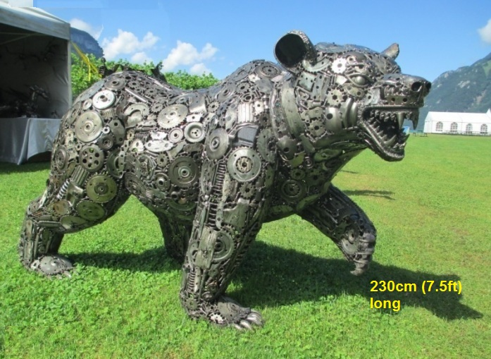 Bear statue for sale, life size metal Bear sculpture - Metal Animal Art from Thailand