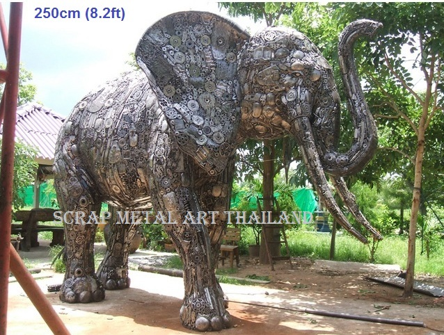 Elephant statue for sale, life size metal Elephant sculpture - Metal Animal Art from Thailand