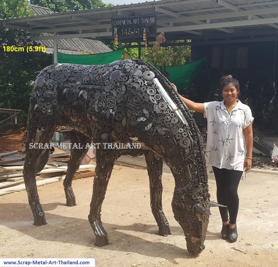 Horse statue for sale, life size metal Horse sculpture - Metal Animal Art from Thailand