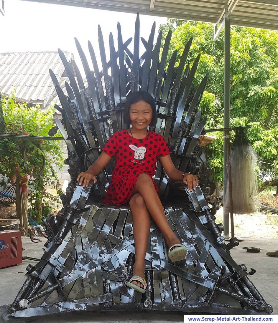Iron Throne replica for sale - Game of Thrones - life size metal movie theme furniture from thailand