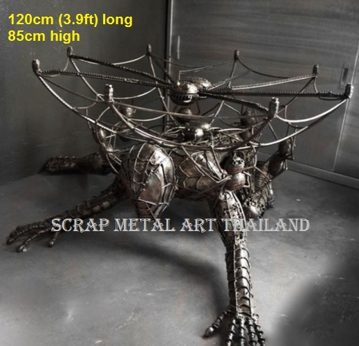 Spiderman Table for sale - life size Spiderman Table furniture Metal Art from Thailand