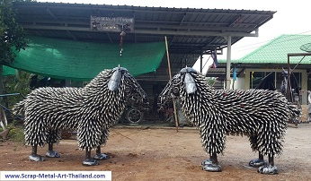 Sheep statues for sale, life size metal Sheep sculptures - Metal Animal Art from Thailand